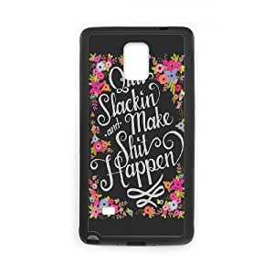Samsung Galaxy Note 4 Cell Phone Case Black Quit Slackin LSO7869243