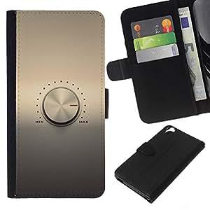 KLONGSHOP // Tirón de la caja Cartera de cuero con ranuras para tarjetas - Perilla de volumen - HTC Desire 820 //