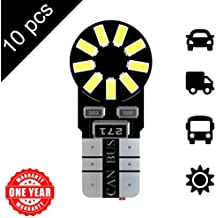 LED Monster 10-Pack White 18SMD LED Bulbs 194 168 T10 2825 Parking Light Car Dome Map License Plate Lights Lamp