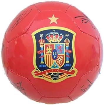 Balón de la selección española firmado por los jugadores: Amazon ...
