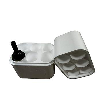 Caja de transporte de poliestireno para botellas de vino (6 unidades) – Envío de