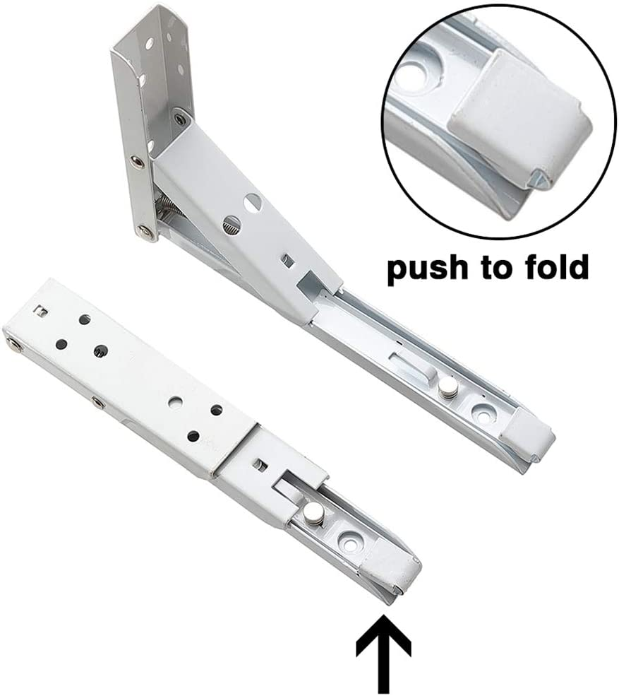 para Colgar en la Pared 2Pcs, Blanco 30cm Escuadra Plegable Escuadras Abatibles de Metal Soporte Triangular Soporte para Estante Plegable
