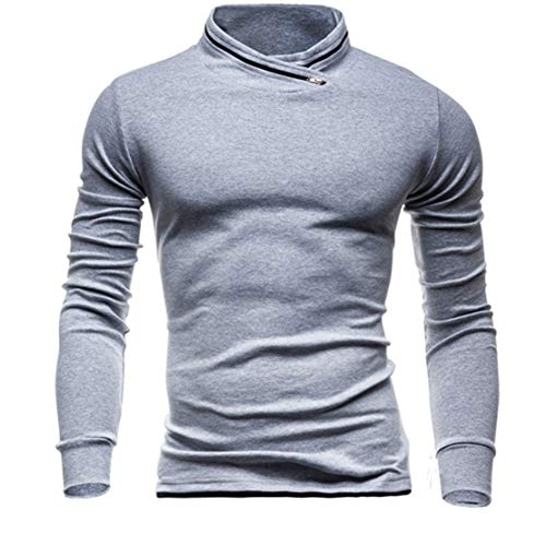 Mikey Store Men's Winter Solid Long Sleeved Sweatshirts Top