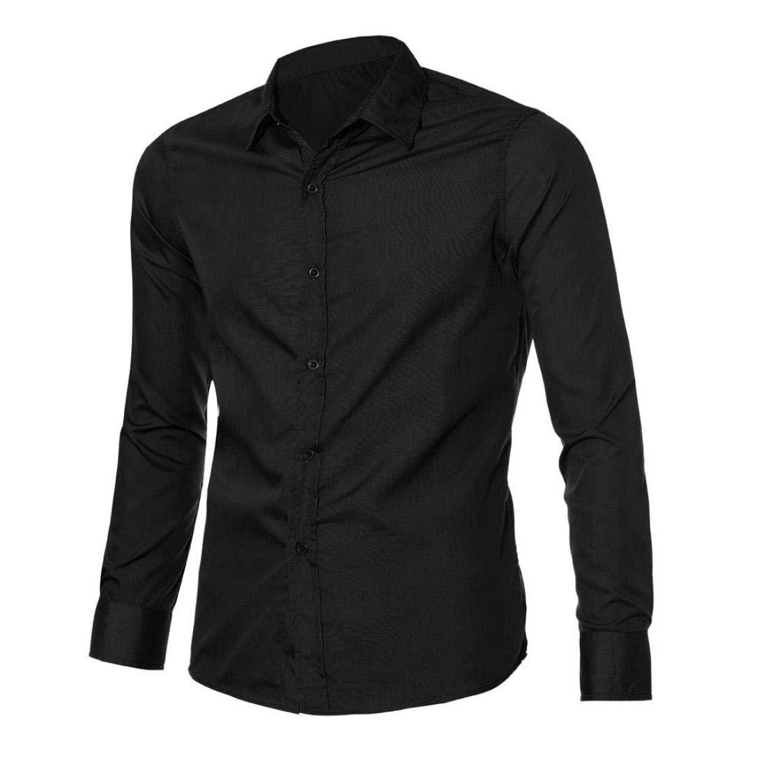 Btruely Herren Blusa Camisa Informal con Estilo de Lujo para Hombre Blusa de Manga Larga de algodón Top Ajustadas Slim Casual/Formal para Hombre: Amazon.es: ...