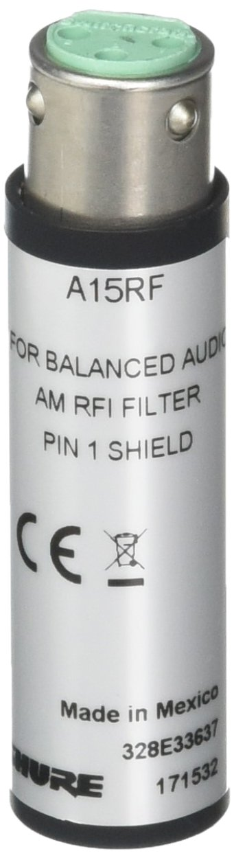 Shure A15RF RF Filter, XLR In/Out, Passes Phantom Power by Shure