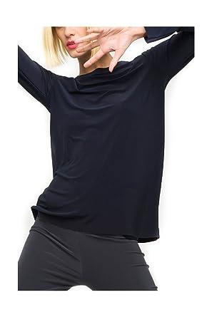 Norma Kamali Womens/ Long Sleeve Crew Top