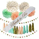 Bachelorette or Bridal Shower Party Decoration Bundle With Bride to Be Sash (Peach-22 pieces)