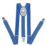 Kids Owl Love You Forever Braces Suspenders Children Boys / Girls Clip-on Adjustable Y-back Belts
