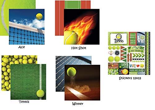 (Tennis 12x12 Scrapbook Papers & Stickers Set)