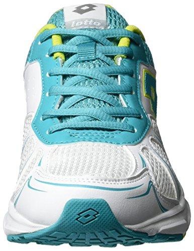 Lotto Speedride 600 W, Zapatillas de Running para Mujer Blanco (Wht/grn Wat)
