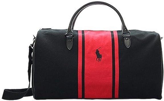 Ralph Lauren - Bolsa de Playa Negro Rojo: Amazon.es: Equipaje