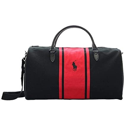 Image Unavailable. Image not available for. Colour  Ralph Lauren World Of  Polo Red and Black Weekend   Travel   Gym   Holdall Bag 8c7adcb476753