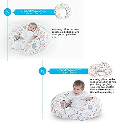 i-baby Nursing Pillow 4 in 1 Breast Feeding Pillow Cotton Knitted Cover Maternity Pregnancy Support Pillow Multi-Functional Baby Cushion