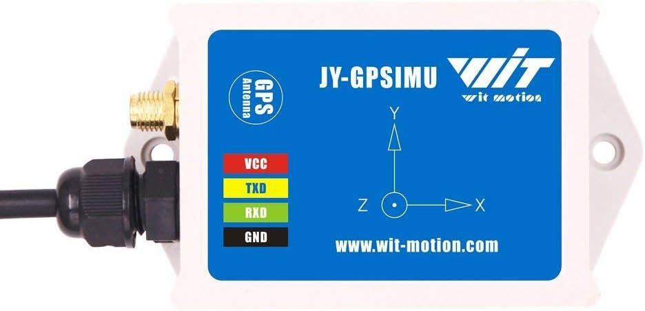 WTGAHRS1 Sensor IMU + GPS de alta precisión de 10 ejes de acelerómetro de 3 ejes Ángulo del giroscopio Magnetómetro Barómetro GPS Velocidad del suelo Posición de navegación GPS Salida TTL con antena