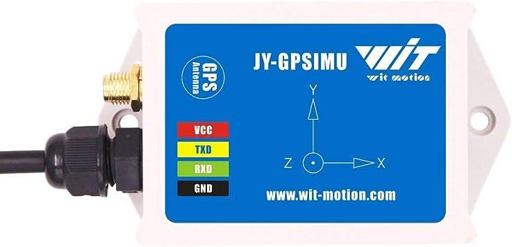 WTGAHRS1 Sensor IMU + GPS de alta precisión de 10 ejes de acelerómetro de 3 ejes Ángulo del giroscopio Magnetómetro Barómetro GPS Velocidad del suelo ...