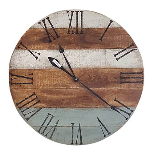 Multi-Colored Farmhouse Wood Clock