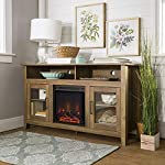 Home Accent Furnishings Lucas 58 Inch Highboy Fireplace TV Stand in Rustic Oak