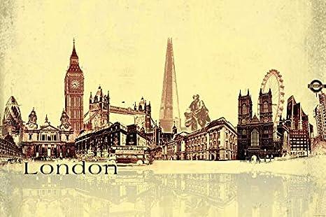 Amazon Com 1art1 Posters London Xxl Poster Urban Collage