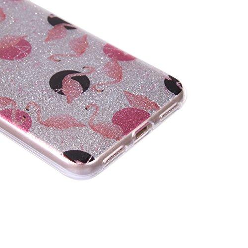 Bling 2017 Sturdy For lite Perfect Cover lite Case P8 P8 Luxury Gel TPU Ultra Glitter 2017 Soft Huawei Fit 2017 Silicone Huawei Slim P8 BONROY® Sparkle Flamingo Huawei Thin P Resist lite Case Bumper Scratch CU8tqx