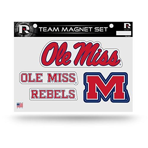 Rico Industries NCAA Mississippi Ole Miss Rebels Die Cut Team Magnet Set Sheet