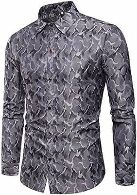 338a751b804c9 Camisas hombre Paño de seda de diseño de camuflaje de los hombres de largo  camisa