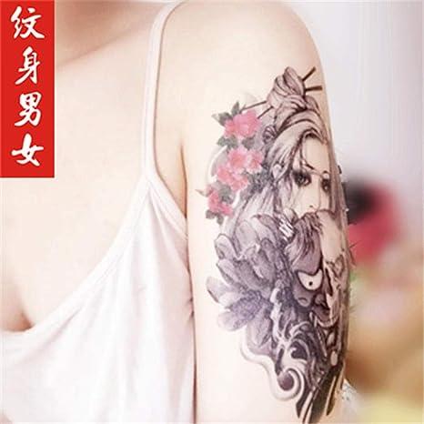 Tatuaje Brazo De Flor Etiqueta Engomada Del Tatuaje A Prueba De ...
