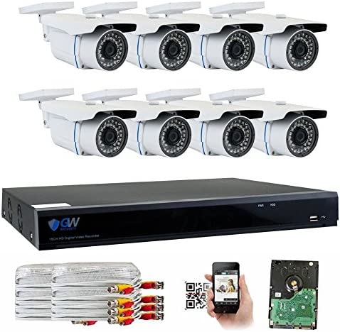 GW Security 8 Channel CCTV 5MP 2.5X 1080P Security Surveillance DVR System with 8 x Super 5.0MP HD 1920p 2592TVL Weatherproof Security Cameras,110ft IR Night Vision,2TB HDD