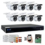 GW Security 8 Channel CCTV 5MP (2.5X 1080P) Security Surveillance DVR System with 8 x Super 5.0MP HD 1920p (2592TVL) Weatherproof Security Cameras,110ft IR Night Vision,2TB HDD Review