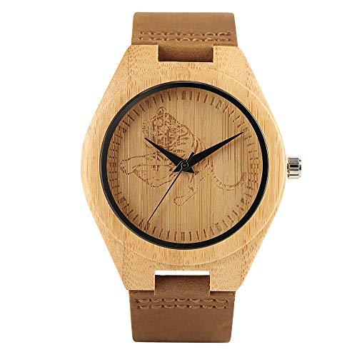 Watch Tiger Ladies Woods (Watches for Men Women, Creative Tiger Bamboo Wood Men's Wrist, Watch Men Women)