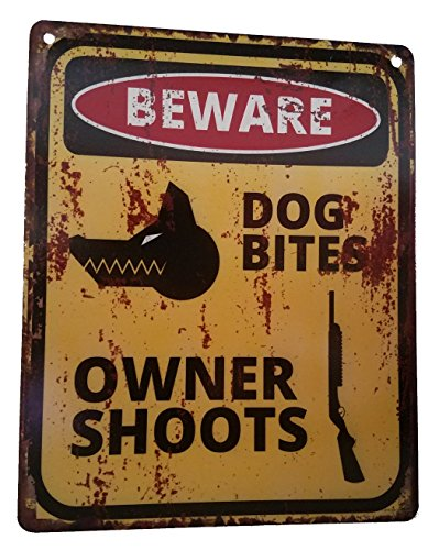 Rustic Bad Ass Owner & Dog Sign