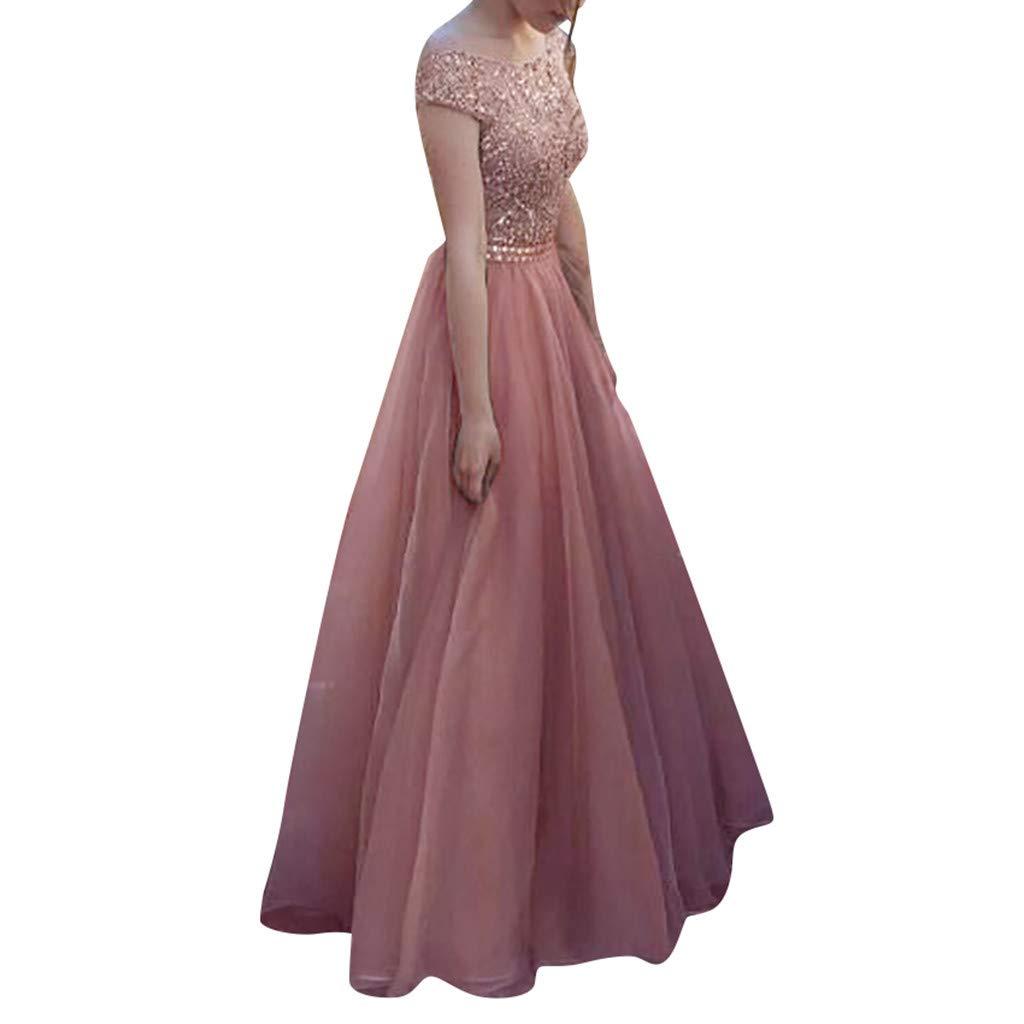 e7deae8751 Amazon.com: Women's Fashion Lace Formal Dresses Sleeveless Elegant ...