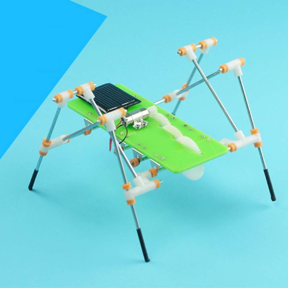 xMxDESiZ DIY Solar Power Kids Niños Quadruped Walking Robot ...
