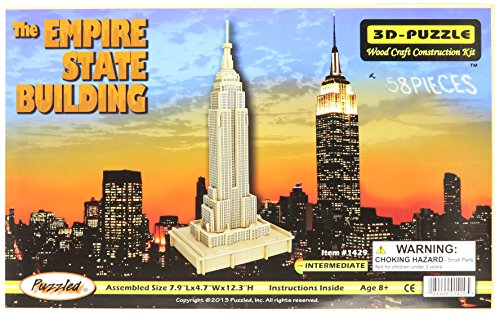 3D Natural The Empire State Building Wood Puzzle