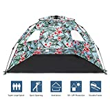 XHiro Pop Up Beach Tent Sun Shelter,Protable 3-4 Person Sun Shade with Easy Setup and Sun Protection for Kids,Family