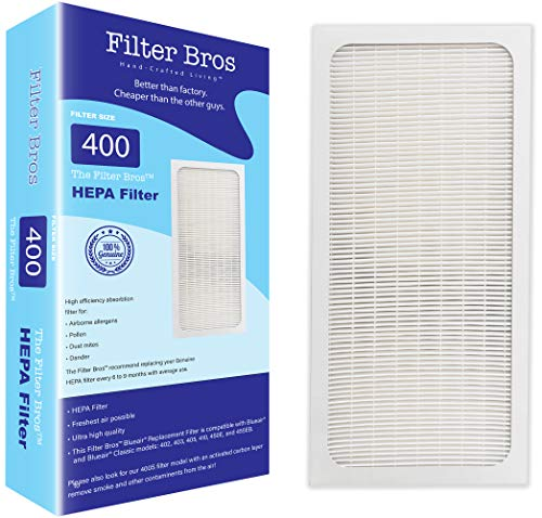 Genuine Filter Bros Replacement Filter for Blueair 400 Classic Series (402, 403, 405, 410, 450E, 455EB, 480i) HEPA Particle Filters Dander, Dust, Odors for Fresh Air and a Blue Sky -