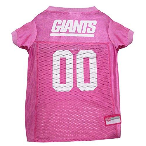 - NFL NYG-4019-LG New York Giants Pet Pink Jersey, Large