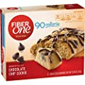 Fiber One Brownies, 90 Calorie Bar, Chocolate Chip Cookie, 6 Fiber Bars, 5.34 oz