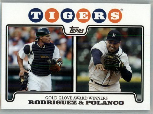 2008 Topps Detroit Tigers LIMITED EDITION Team Edition Gift Set # 42 Ivan Rodriguez (Pudge) - Placido Poloanco - Gold Glove Winners - MLB Trading Card - Fleer Limited Edition Baseball Card