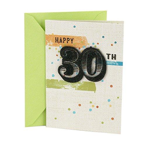 Hallmark 30th Birthday Card (Stripes and Dots)