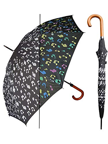 (RainStoppers Color Changing Umbrella - 48 Inches (Music Notes))