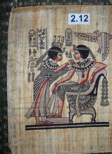 Egyptian Papyrus Painting * The Throne of king Tutankhamen * ep.B-2.12 ()