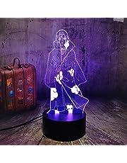 Uchiha Itachi Anime Nachtlampje met 3D-ledverlichting, 7 kleurveranderingen, geschikt voor manga-fans, kerstlamp