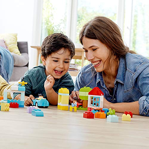 51483aOSrxL - LEGO DUPLO Classic Brick Box 10913 First Set with Storage Box, Great Educational Toy for Toddlers 18 Months and up, New 2020 (65 Pieces)