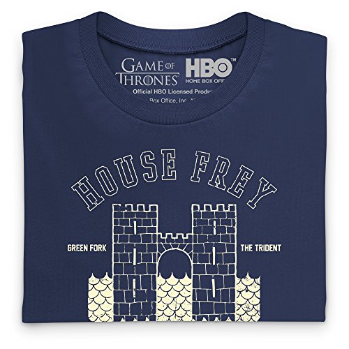 Official Game of Thrones - The Twins Camiseta, Para mujer Azul marino