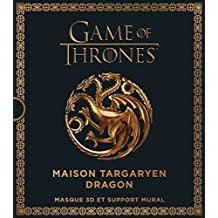 Game of Thrones : Maison Targaryen dragon : Masque 3D et support