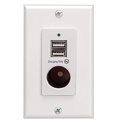 Magnadyne White Wall Mount 2 USB Charging Ports and 12V Power Outlet included with Wall Plate: Automotive [5Bkhe2004006]
