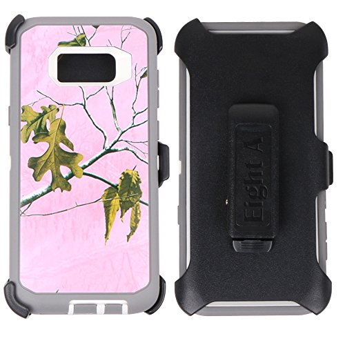 Samsung Galaxy S8 Case-Heavy Duty Full Body Protective Rugged Holster w/ Belt Clip,Shock Resistant Case Cover for Regular Galaxy S8 (Camo Phone Covers)