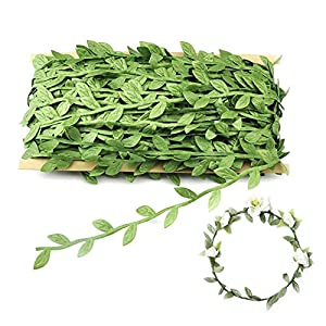 OFNMY Artificial Vines 132 Ft/40M Fake Hanging Plants Leaf Garland Silk Ivy Artificial Balloon Greenery Home Wall Garden Wedding Party Wreaths Decor 14