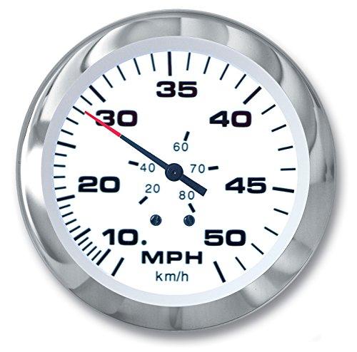 (Sierra International 61752Ph Lido Pitot Type 10 to 50 Mph Dial Range Scratch Resistant Speedometer Head, 3