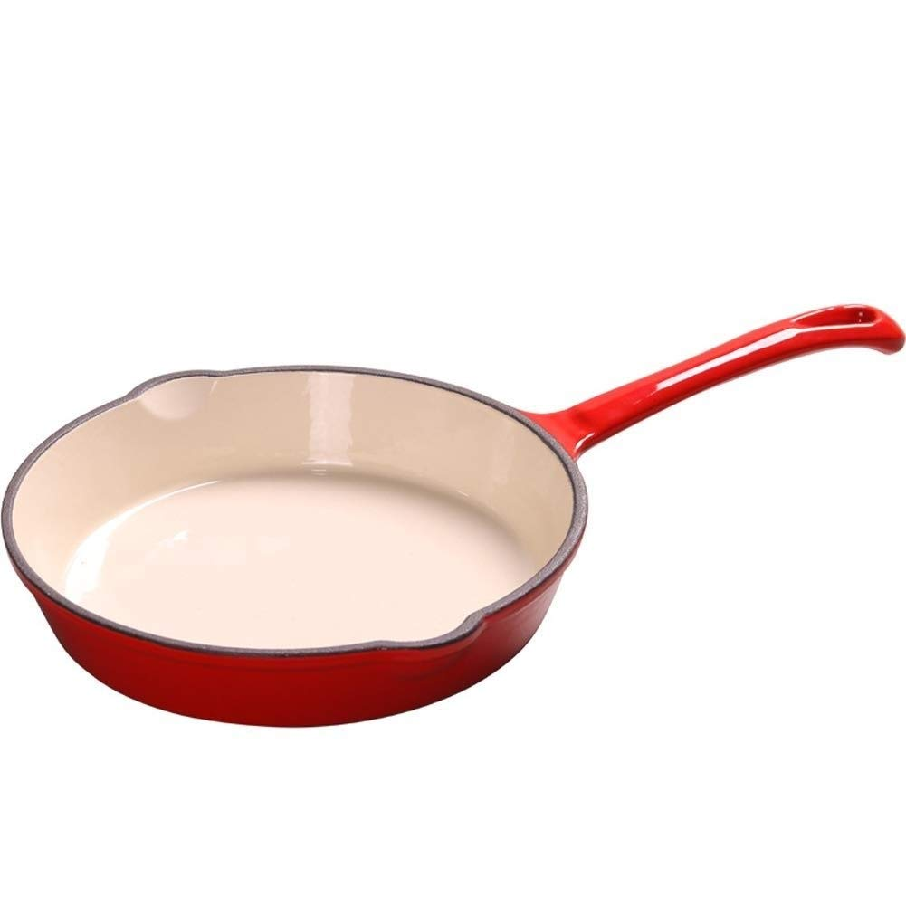 ZYK Frying Pan - Ceramic Coating Induction Frying Pan Red Frying Pan, Uniform Heat Transfer, Less Fume, Easy To Clean, 16/20/25cm Pan (Size : 20cm) by ZYK